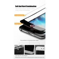 Shopkaki iPhone Screen Protector 7 Plus 8 Plus Tempered Glass with Soft Curved Edge