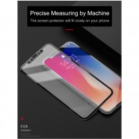 Shopkaki Apple iPhone Xs / X Tempered Glass, Full Cover Soft Edge Screen Protector (Premium)