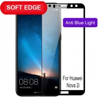 Shopkaki Huawei Nova 2i Tempered Glass Soft Curve Edge, 4D Full Cover Nova2i Screen Protector