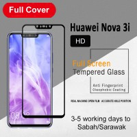 Shopkaki Huawei Nova 3i Screen Protector Full Glass 5D Full Cover Nova3i Tempered Glass