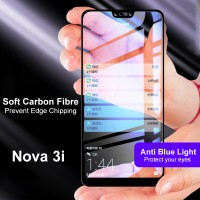 Shopkaki Huawei Nova 3i Tempered Glass Soft Curve Edge 4D Full Cover Nova3i Screen Protector
