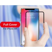Shopkaki Apple iPhone XR Premium Tempered Glass Screen Protector, Full Covered Tempered Glass