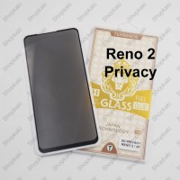 Shopkaki Oppo Reno 2 Privacy Tempered Glass / Anti Spy Screen Protector
