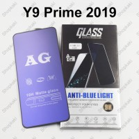 Shopkaki Huawei Y9 Prime 2019 Matte Anti Fingerprint Tempered Glass with Anti Blue Light Protection Screen Protector