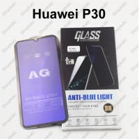 Shopkaki Huawei P30 Matte Anti Fingerprint Tempered Glass with Anti Blue Light Protection Screen Protector