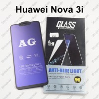 Shopkaki Huawei Nova 3i Matte Anti Fingerprint Tempered Glass with Anti Blue Light Protection Screen Protector