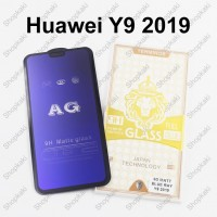 Shopkaki Huawei Y9 2019 Matte Anti Fingerprint Tempered Glass with Anti Blue Light Protection Screen Protector