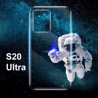 Shopkaki Samsung S20 Ultra Transparent Casing / Clear Case (Simple and Quality)