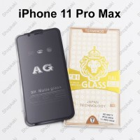 Shopkaki iPhone 11 Pro Max Matte Anti Fingerprint Tempered Glass Screen Protector