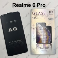 Shopkaki Oppo Realme 6 Pro Matte Anti Fingerprint Tempered Glass Screen Protector