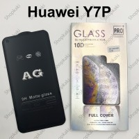 Shopkaki Huawei Y7P Matte Anti Fingerprint Tempered Glass Screen Protector