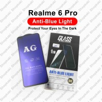 Shopkaki Oppo Realme 6 Pro Matte Anti Fingerprint Tempered Glass with Anti Blue Light Protection Screen Protector