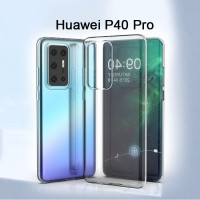 Shopkaki Huawei P40 Pro Transparent Casing Clear Case Cover (High Quality)