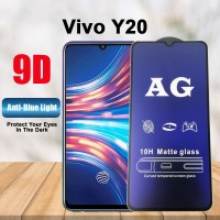 Shopkaki Vivo Y20 Matte Anti Fingerprint Tempered Glass with Anti Blue Light Protection Screen Protector