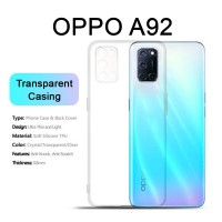 Shopkaki Oppo A92 Transparent Casing Clear Case Cover (High Quality)