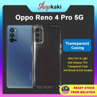 Shopkaki Oppo Reno 4 Pro 5G Transparent Casing Clear Case Cover (High Quality)