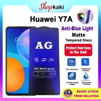 Shopkaki Huawei Y7A Matte Anti Fingerprint Tempered Glass with Anti Blue Light Protection Screen Protector