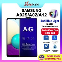 Shopkaki Samsung A02S/A02/A12 Matte Anti Fingerprint Tempered Glass with Anti Blue Light Protection Screen Protector