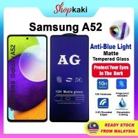 Shopkaki Samsung A52 Matte Anti Fingerprint Tempered Glass with Anti Blue Light Protection Screen Protector